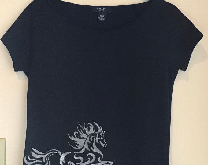 Chaps Fantasy Horse Shirt SZ S