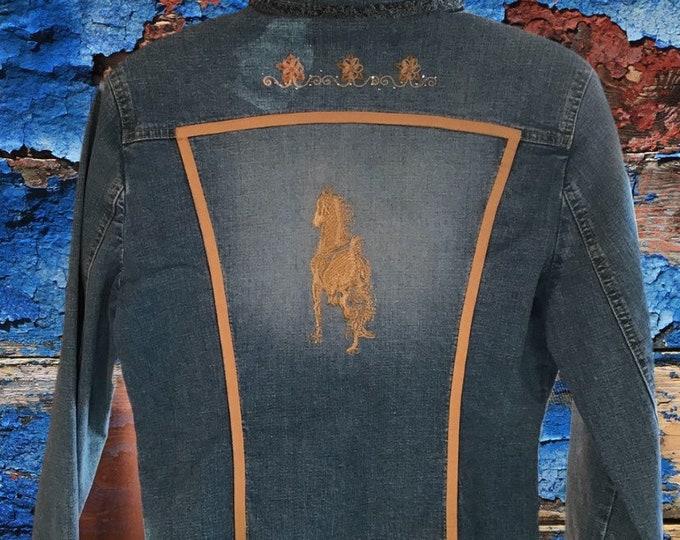 Cute jean shirt jacket SZ XS