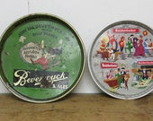 4 Vintage Beer Trays Beverwyck, Shaefer, Piels and Knickerbocker