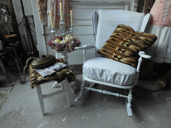 Prime Rocking Chair Vintage Chair Shabby Style Shabby Look Shabby Country House Style Wooden Chair Brocante Cottage Linen Upholstery Armchair Onthecornerstone Fun Painted Chair Ideas Images Onthecornerstoneorg