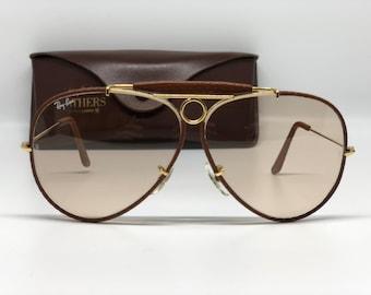dcb6886d69e USA Ray Ban Leather Shooter 62mm(Rare) new okd stock sunglasses(changables  lens)
