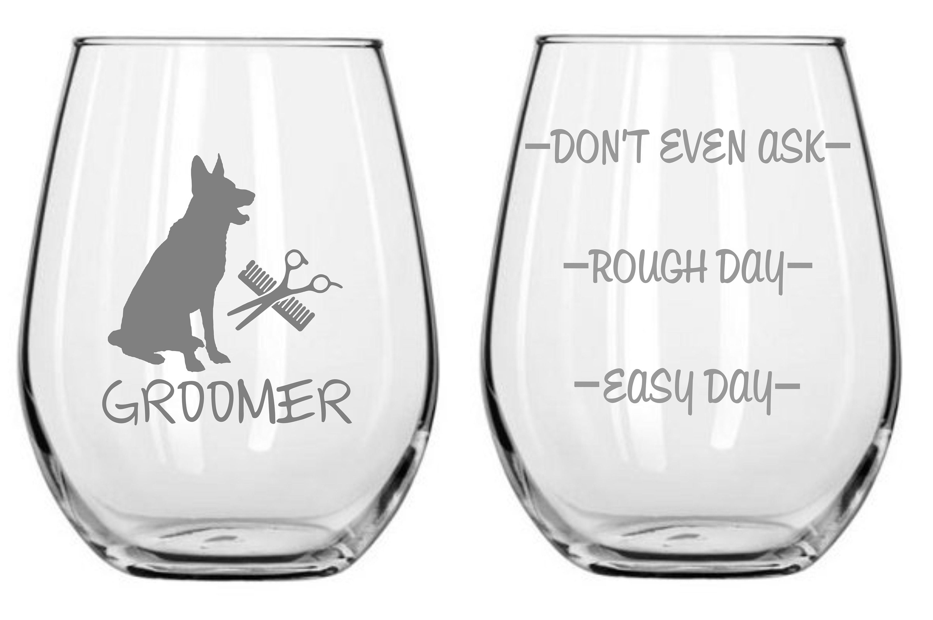 Dog Groomer Glass Choose From Stemless Wine Wine Rocks