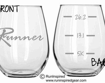 Running Runner Glass FREE Personalization