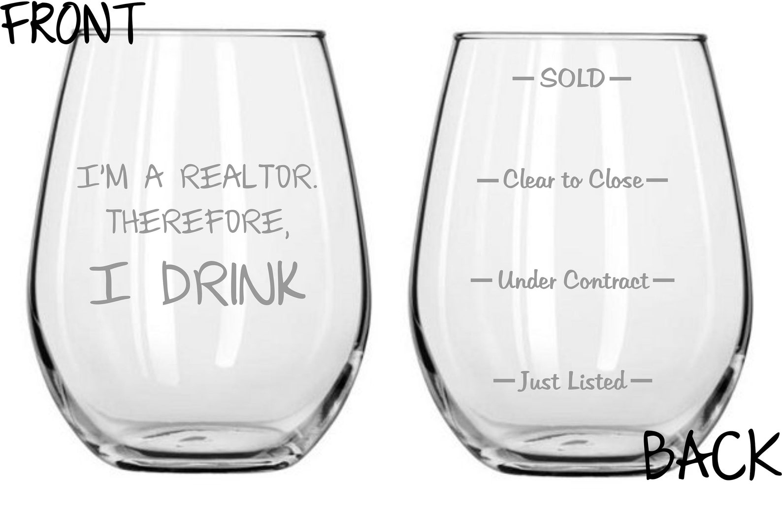 I'm a Realtor. Therefore, I drink.