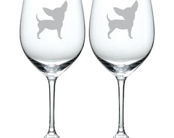 Chihuahua Glass  FREE Personalization