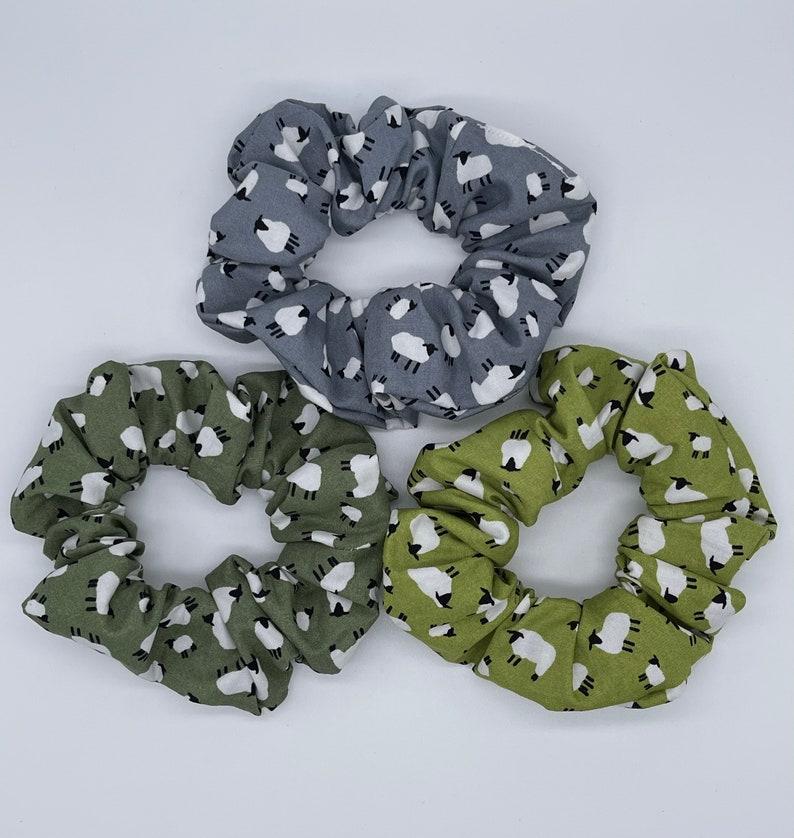 Handmade Sheep Hair Scrunchies