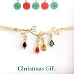 Christmas Gifts, Birthstone Bracelet, Personalized Birthstone Jewelry, Unique gifts for MOM, Grandma Gift ,Personalized Gifts for Her