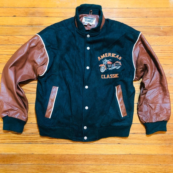 Vtg Dallas Premium Leather Men's Sz XS Motorcycle