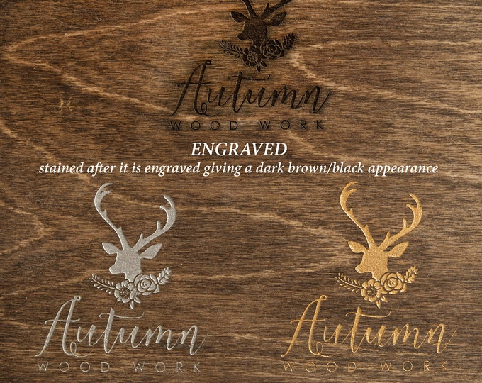 Gold or silver inlay - add gold, rose gold or silver inlay to your engraved box