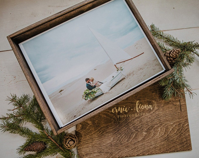 Custom - 10.5x15.5x3 Wood Album Box (NO area for USB)