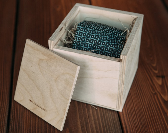 Set of 6 - Wood Tie Box