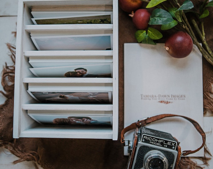 Heirloom Photo box with 5 sections for 5x7 prints