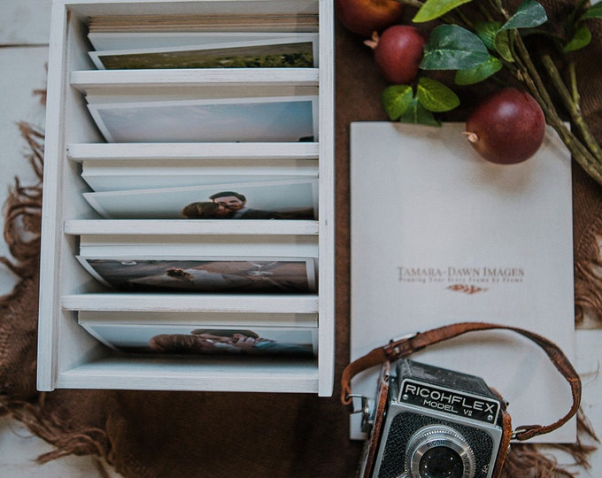 Heirloom Photo box with 5 sections for 4x6 prints