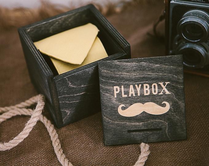 Set of 6 - Wood Tie Box