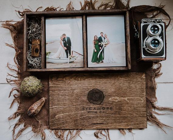 set von 10 5 x 7 doppel holz print box f r 5 x 7 fotos und etsy. Black Bedroom Furniture Sets. Home Design Ideas