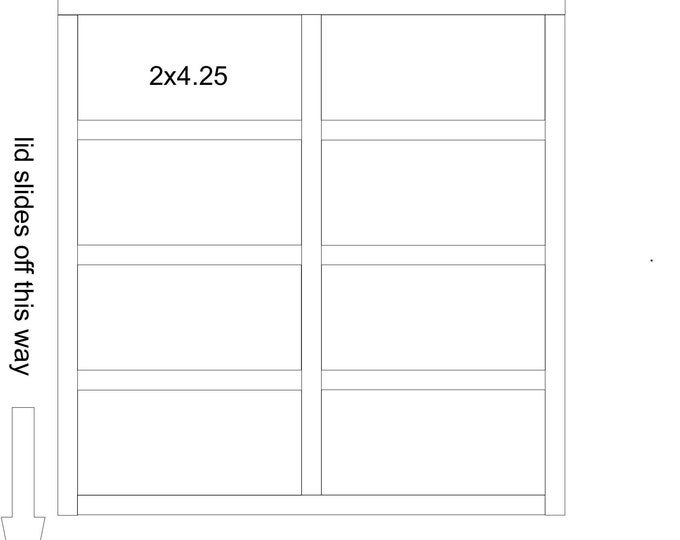 custom Double Heirloom Photo box with 8 sections for 4x6 prints - can hold around 1300-1400 prints