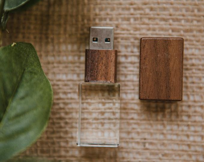 custom set of 12  -  16gb USB 3.0 - Crystal USB with laser engraving