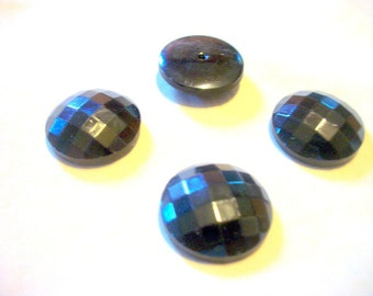 Antique Victorian Faceted Button Flat- backed Cabochon # F12
