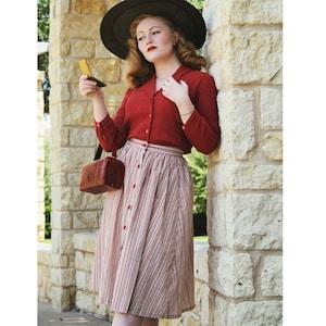 1940s Women's Outfit Inspiration GreenofGrey  AT vintagedancer.com