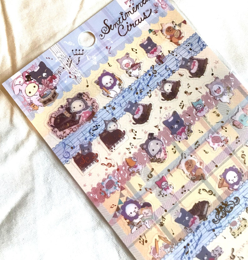 Sentimental Circus Stickers Sheet Candy House Kawaii Stationery Japan SAN-X