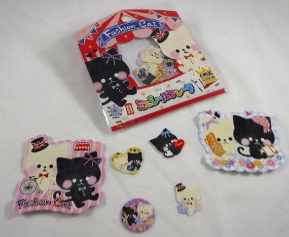 Kawaii Japanese Cat Style Stickers cat buddies sticker DECO FAIRY