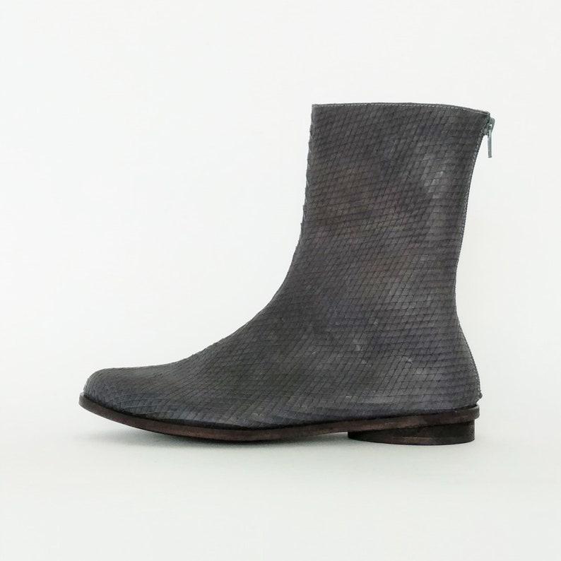 Comfortable Booties Flat Brown Leather Boots Leather Ankle Boots Everyday Cute Ankle Boots Pointy Booties Womens Low Heel Booties