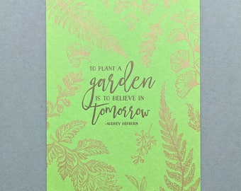 Good Luck Card Friendship Card: Lord Willing and The Creek Dont Rise Letterpress Card Hand Made Greeting Card Thank You Card