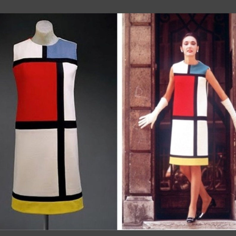 dc4692e115e MONDRIAN tunic Sleeveless color block mini cocktail dress is