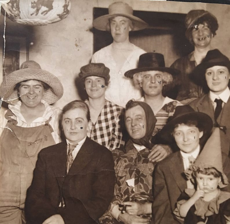 Halloween Costume Party Vintage Photo Cross Dressers image 0
