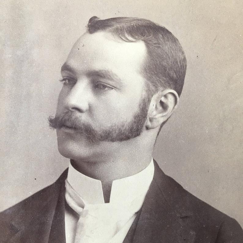 Mustache & Mutton Chop Sideburns Victorian Vintage Photo image 0