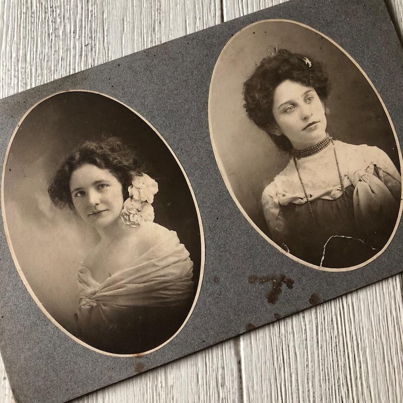 Two Beauties Antique Photo Beautiful Women image 0