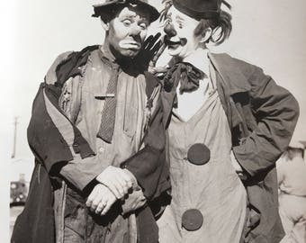 Clowns Emmett Kelly Paul Jung Sideshow Carnival Circus Antique Photo