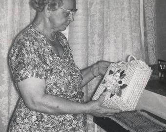 Gladys is Already Planning to Regift This Birthday Present Vintage Photo