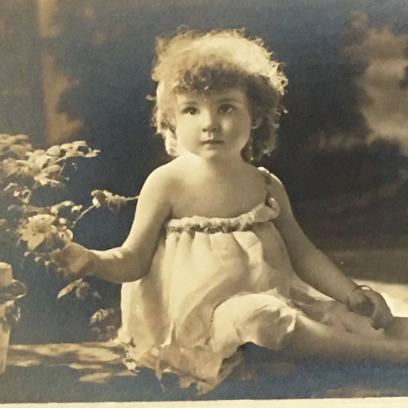 Donald Cameron Beidler Photo Sweetest Curls Angel Baby Vintage image 0