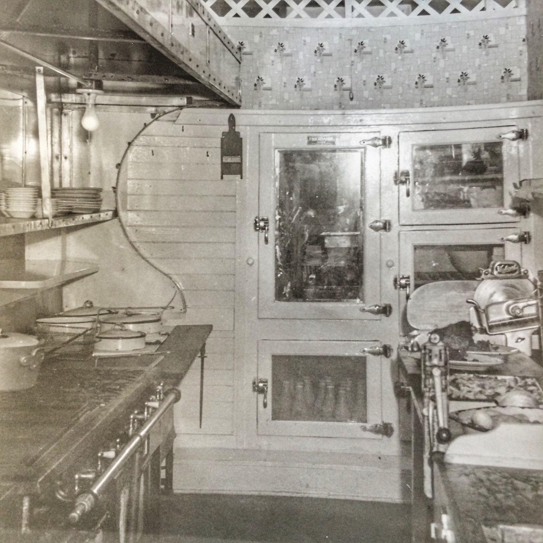 Vintage Kitchen Photography: Pullman Train Commercial Kitchen Vintage Photo