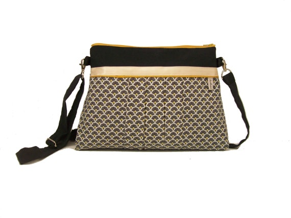 f51a3f9ad8 black and white crossbody bag with fans shoulder bag in