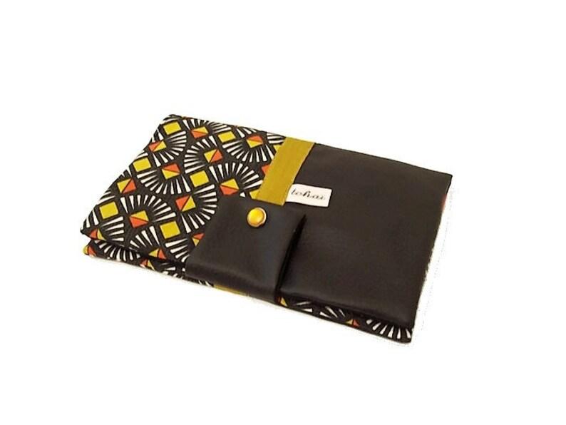 a37f1c55c410 Portefeuille femme noir style ethnique porte monnaie tout en