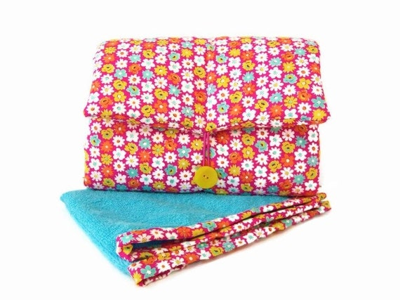 origami pink and pink double gauze changing pad mobile nomadic mattress Changing mat