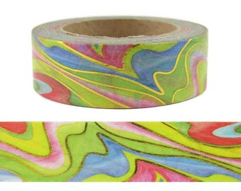 36 Sample Washi Tape or Full Roll Abstract Print Washi Tape Flower Washi Tape Washi Tape Designer Washi Tape Q1036
