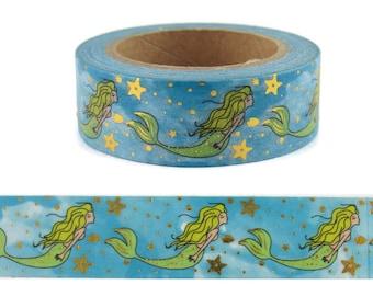 Ahoy Washi Tape Tube 9 pc  Washi Planner,Scrapbooking,Papercrafts,Embellishments,Nautical,Sea,Foil Washi,Ocean Creatures,Whale Washi tape