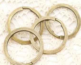 30mm Large Split Key Ring, Antiqued Bronze (5) - BF35
