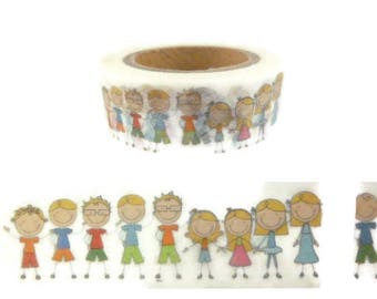 People Family Children Parents Kids Washi Tape - Z577
