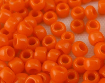 TOHO Round 8/0 Sunset Orange Opaque Seed Beads Glass (12g) - T196/R-08-50