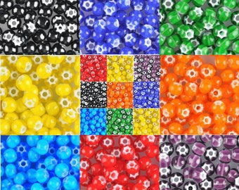 6/0 Cornelian Star Seed Beads, Your Choice of Color, Accent Beads, Spacer Beads (5 grams, 90 beads) - BM