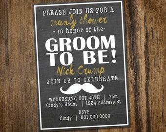 Groom Shower Invitation