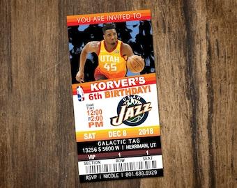 Basketball Ticket Birthday Invitation