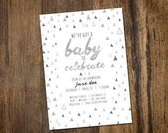 Triangle Baby Shower Invitation