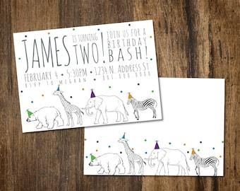 Party Animal Birthday Invitation
