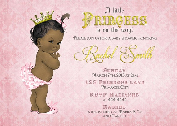 Items Similar To African American Girl Baby Shower