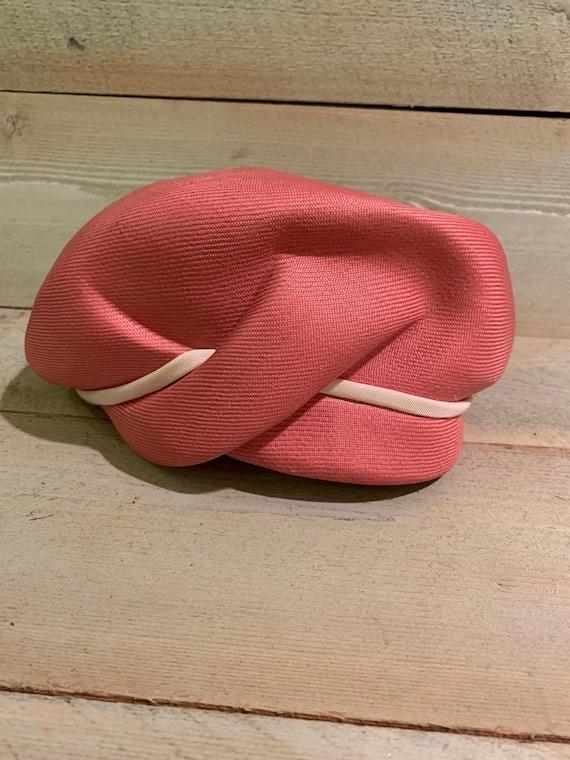 60's Vintage Pink Ladies Hat Atelier Lucas London